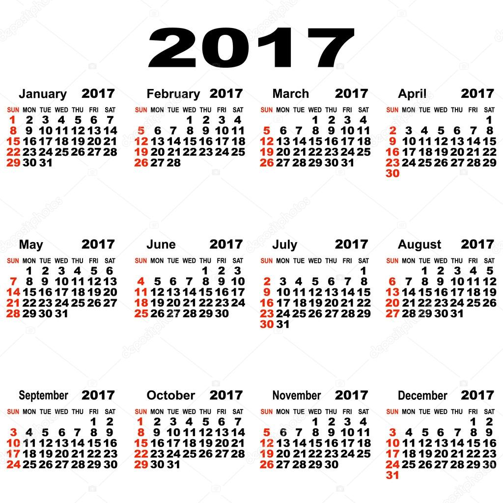 Also month calendars in 2017 including week numbers can be viewed at ...