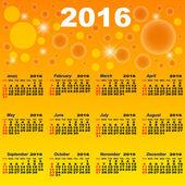 European calendar of 2016. — Stock Vector