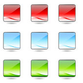 Colored app buttons set. — Stock Vector