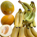 Bananas and melons. — Stock Photo #61387891