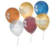 Balloon background. — Stock Photo