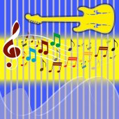 Background with Music Note. — Stock Vector