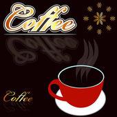 Warme koffie. — Stockvector