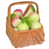 Sepet elma ve su kavun ile. — Stok fotoğraf