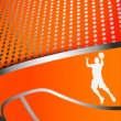 Three colorful abstract basketball backgrounds — Stock Vector #58898735