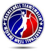 Basketball team emblem — Stock Vector