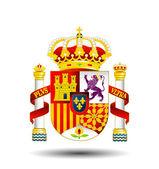 詳細なスペインの紋章 — ストックベクタ