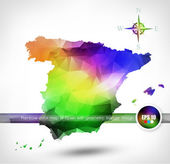 Rainbow color map of Spain — Stock Vector