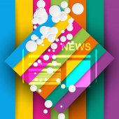 Good news colorful background — Stock Vector