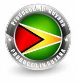 Produced in Guyana label. — Stock Vector