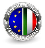 Produced in Italy and EU label. — Stock Vector