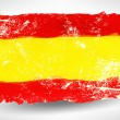 Bright hand drawn watercolor Spain flag with grunge effect — Stok Vektör #75903061