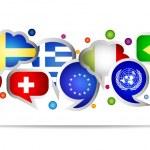World flags bubble speech shapes. Set 2 — Stock Vector #75908193
