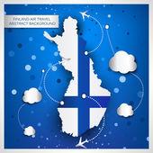 Abstrait de la travel air Finland — Vecteur