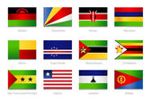 African Flags. Collection part 4 — Stock Vector