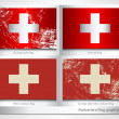 Switzerland flag graphic set — Stock Vector #77407924