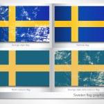 Sweden flag graphic set — Stock Vector #77407884
