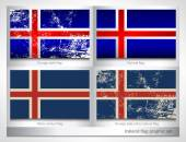 Iceland flag graphic set — Stock Vector