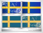 Sweden flag graphic set — Stock Vector