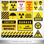Radiation caution sign set — Stock Vector #77939868