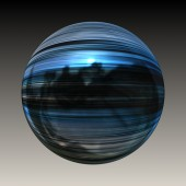 Wonderful abstract illustrated glass object — Stock Photo