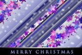 Wonderful Christmas background design illustration with snowflakes and stars — Stock Photo
