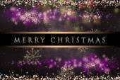Wonderful Christmas background design with stars and snowflakes — Stock Photo