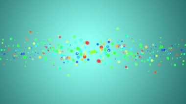 Wonderful video animation with bubbles in motion, loop HD 1080p — Stock Video