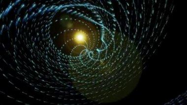 Fantastische Videoanimation mit Partikel-Objekt und Licht in Bewegung, loop-Hd 1080p — Stockvideo