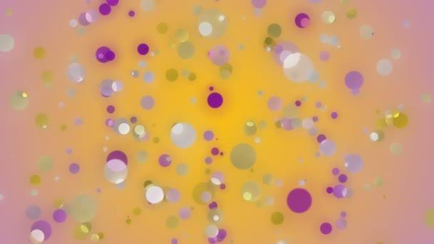 Maravilloso video de animación con burbujas en movimiento, lazo hd 1080p — Vídeo de stock