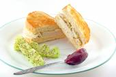 Roast Chicken Sandwich On Toasted White Bread — Stock Photo