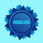 ブルー スタイル星ラベル記号ダウンロード — ストックベクタ