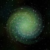 Twisted Green Sparkle With Background With Stars — Stockfoto