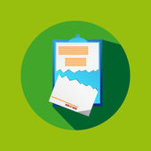 Green Circle Flat Cancel Contract Icon — Stock Vector