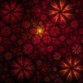 Big Red Bulge Fractal Background — Stock Photo