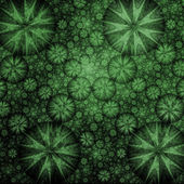 Big Green Bulge Fractal Background — Stock Photo