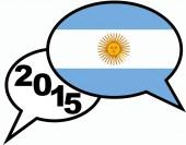 2015 bubble talk Argentina — Stock Photo