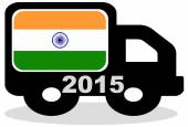 2015 lorry India — Foto Stock
