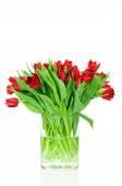 тюльпаны в вазе — Стоковое фото