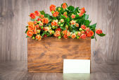 Pink roses in box — Stock Photo