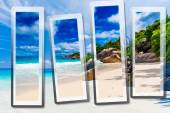 The Seychelles Tropical beach — Stock Photo