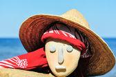 Wicker hat and bandana — Stock Photo