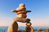 Symbolic figurine of inukshuk — Stock Photo
