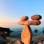 Zen at the seashore, fisheye — Stock Photo #67384591