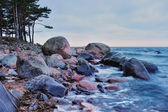 Sea coast with boulders — Stock Photo
