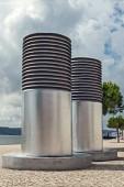 Metro duct pipe in lisbon portugal — Stock fotografie
