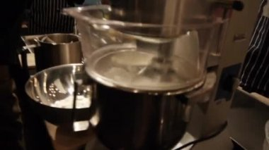 Working automatic kitchen mixer — Stock Video