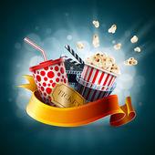 Cinema concept illustration — Stock Vector