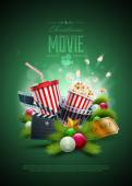 Christmas Movie concept — Stock Vector