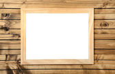 Isolated frame on wood — Stock Photo